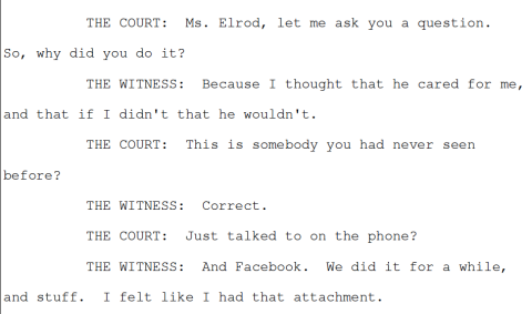 Audrey Elrod Testimony at Sentencing
